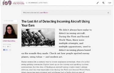 http://io9.com/5884845/the-lost-art-of-detecting-incoming-aircraft-using-just-your-own-ears