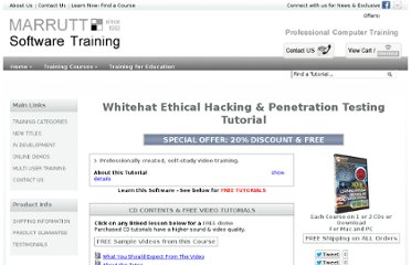 http://www.softwaretrainingtutorials.com/hack-pen-test.php