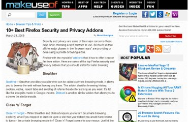 http://www.makeuseof.com/tag/best-firefox-addons-for-enhancing-security-and-privacy/