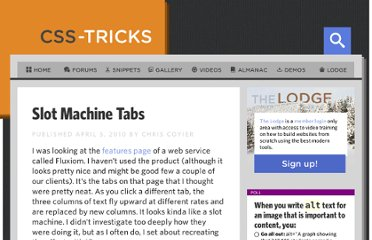 http://css-tricks.com/slot-machine-tabs/