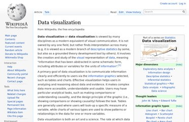http://en.wikipedia.org/wiki/Data_visualization