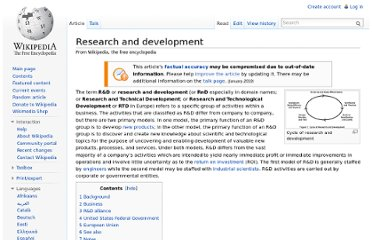 http://en.wikipedia.org/wiki/Research_and_development