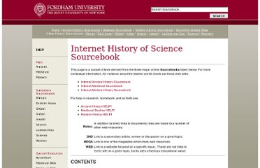 http://www.fordham.edu/halsall/science/sciencesbook.asp