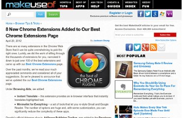 http://www.makeuseof.com/tag/8-chrome-extensions-added-chrome-extensions-page/