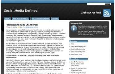 http://www.socialmediadefined.com/2012/01/17/tracking-social-media-effectiveness/