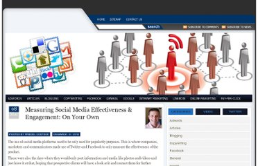 http://www.socialmediastrategy.co.za/index.php/social-media-optimization/measuring-social-media-effectiveness-engagement-on-your-own/