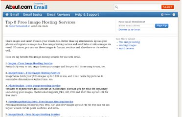 http://email.about.com/od/freeimagehostingservices/tp/Top-Free-Image-Hosting-Sites.htm