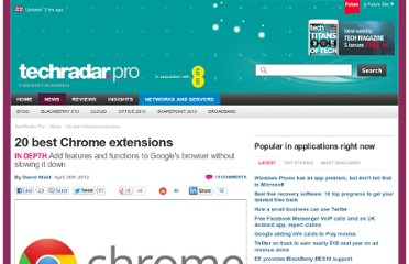 http://www.techradar.com/news/software/applications/20-best-chrome-extensions-1076933
