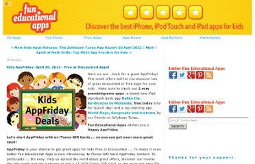 http://www.funeducationalapps.com/2012/04/kids-appfriday-april-20-2012-free-or-discounted-apps.html