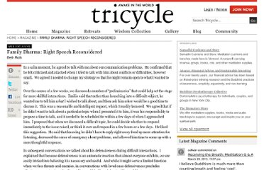 http://www.tricycle.com/web-exclusive/family-dharma-right-speech-reconsidered?page=0,1