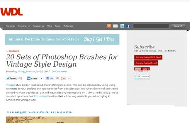 http://webdesignledger.com/freebies/20-sets-of-photoshop-brushes-for-vintage-syle-design