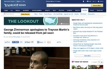 http://news.yahoo.com/blogs/lookout/george-zimmerman-apologizes-trayvon-martin-family-could-released-152857774.html