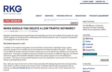 http://www.rimmkaufman.com/blog/when-should-you-delete-a-low-traffic-keyword/13062011/