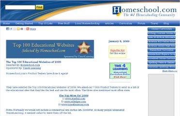 http://www.homeschool.com/articles/top100-2009/default.asp