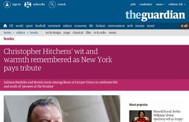 http://www.guardian.co.uk/books/2012/apr/20/christopher-hitchens-memorial-new-york