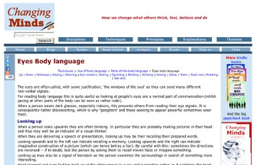 http://changingminds.org/techniques/body/parts_body_language/eyes_body_language.htm