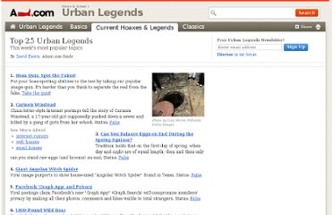 http://urbanlegends.about.com/od/reference/a/top_25_uls.htm
