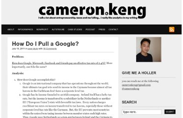 http://www.cameronkeng.com/2011/07/19/hn-how-do-i-pull-a-google/