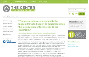 http://centerforgreenschools.org/why-green-schools.aspx