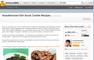 http://www.instructables.com/id/Unauthorized-Girl-Scout-Cookie-Recipes/