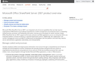 http://office.microsoft.com/en-gb/sharepoint-server-help/microsoft-office-sharepoint-server-2007-product-overview-HA010165653.aspx