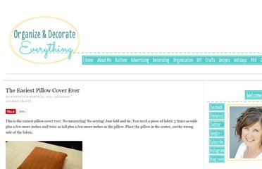 http://organizeyourstuffnow.com/wordpress/the-easiest-pillow-cover-ever