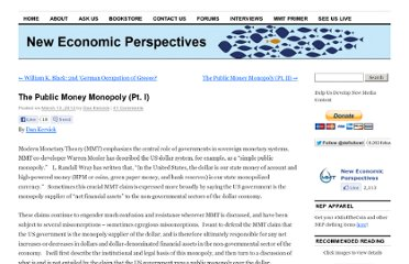 http://neweconomicperspectives.org/2012/03/the-public-money-monopoly-pt-i.html#more-1719