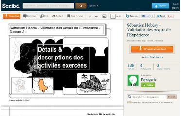 http://fr.scribd.com/doc/26046504/Sebastien-Hebray-Validation-des-Acquis-de-l-Experience