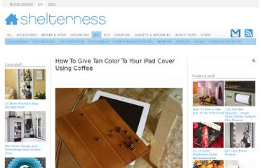 http://www.shelterness.com/how-to-give-tan-color-to-your-ipad-cover-using-coffee/