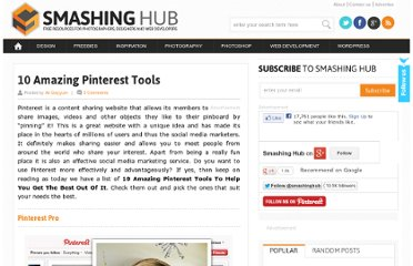 http://smashinghub.com/10-amazing-pinterest-tools.htm