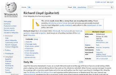 http://en.wikipedia.org/wiki/Richard_Lloyd_(guitarist)