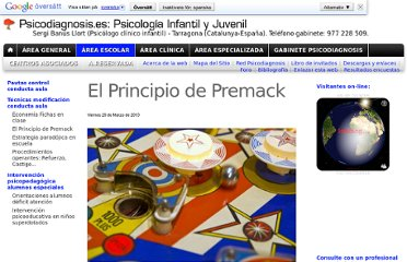 http://www.psicodiagnosis.es/areaescolar/tecnicasmodificacionconductaaula/elprincipiodepremack/index.php