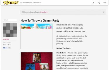 http://kotaku.com/5134068/how-to-throw-a-gamer-party