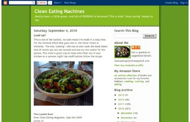 http://cleaneatingmachine.blogspot.com/2010/09/load-up.html