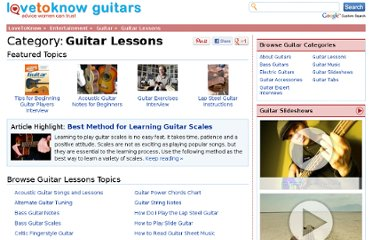 http://guitar.lovetoknow.com/Category:Guitar_Lessons
