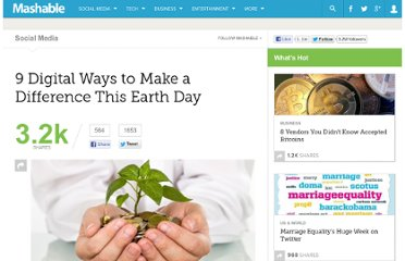 http://mashable.com/2012/04/21/digital-earth-day-2012/