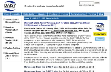 http://www.daisy.org/project/save-as-daisy-microsoft-word-add-in