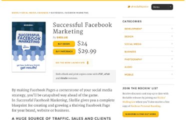 http://rockablepress.com/books/successful-facebook-marketing