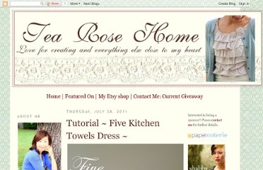http://tearosehome.blogspot.com/2011/07/tutorial-five-kitchen-towels-dress.html