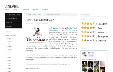 http://cinephil.net/2010/04/21/top-20-animation-disney/