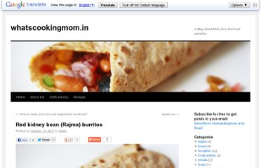 http://whatscookingmom.in/red-kidney-bean-rajma-burritos/