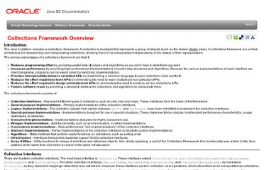 http://docs.oracle.com/javase/6/docs/technotes/guides/collections/overview.html