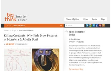 http://bigthink.com/insights-of-genius/killing-creativity-why-kids-draw-pictures-of-monsters-and-adults-dont