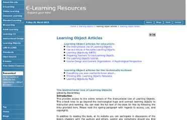 http://www.grayharriman.com/learning_object_articles.htm