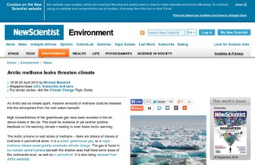 http://www.newscientist.com/article/dn21733-arctic-methane-leaks-threaten-climate.html