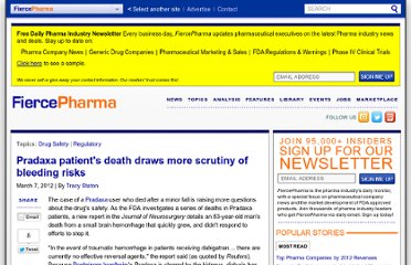 http://www.fiercepharma.com/story/pradaxa-patients-death-draws-more-scrutiny-bleeding-risks/2012-03-07