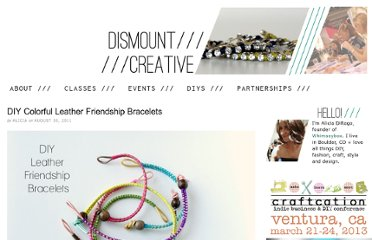 http://www.dismountcreative.com/diy-colorful-leather-friendship-bracelets