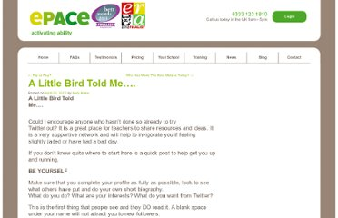 http://www.epaceonline.com/index.php/2012/04/20/a-little-bird-told-me/