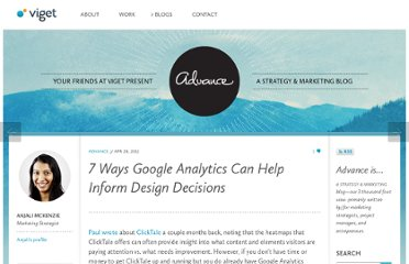 http://viget.com/advance/7-ways-google-analytics-can-help-inform-design-decisions