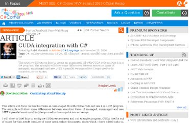 http://www.c-sharpcorner.com/uploadfile/rafaelwo/cuda-integration-with-C-Sharp/